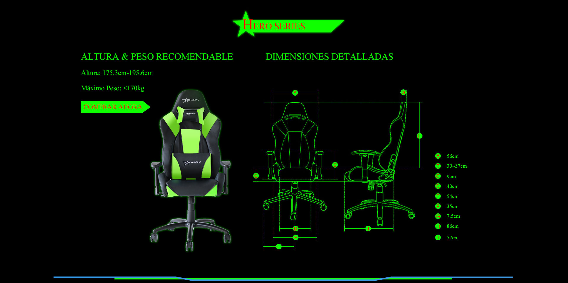 Ewin Hero Silla Gamer