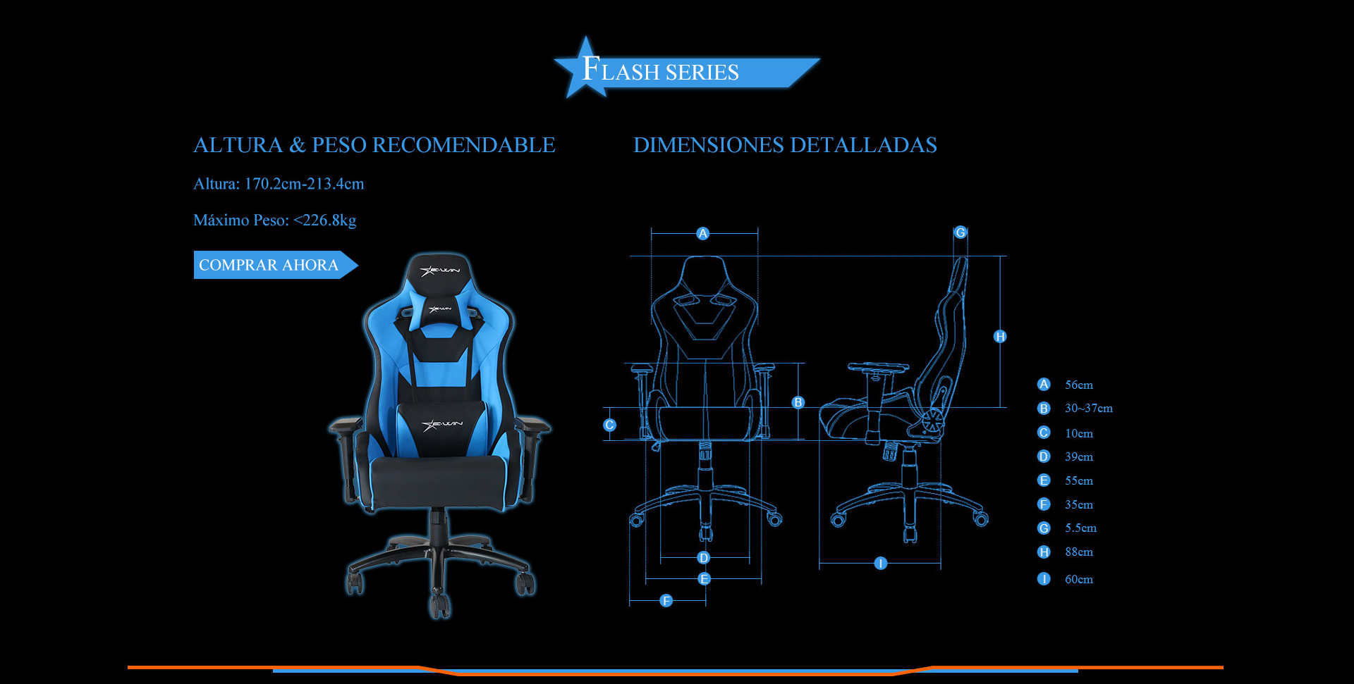 Ewin Flash Silla Gamer