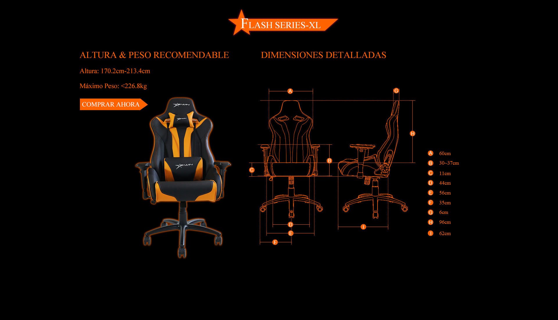 Ewin Flash XL Silla Gamer
